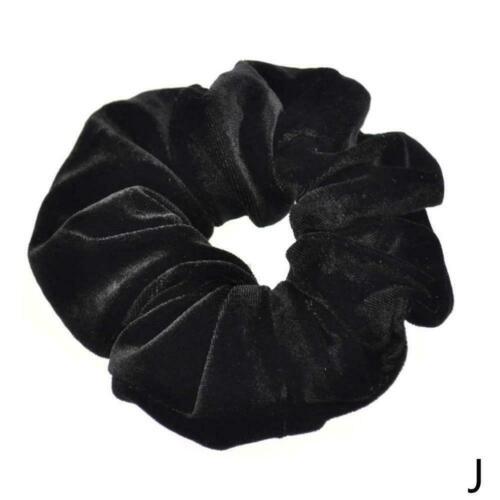 Samt Haarbänder Scrunchies Pferdeschwanz Haarschmuck Schal Elastisches Haar H3A1