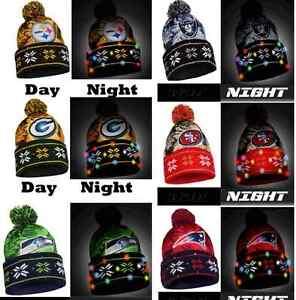NFL LED Light Up Big Logo Winter Christmas Beanie Forever ... 5897e81cb