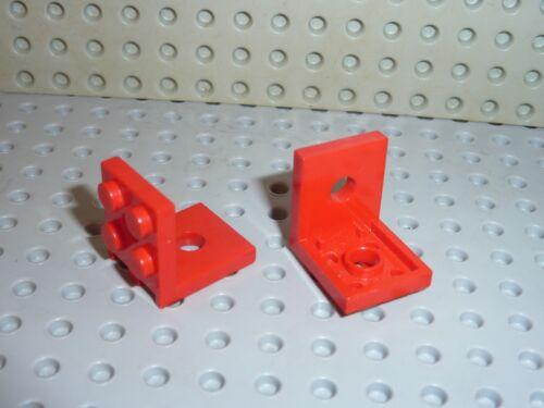 Set 5590//6614//6949//4223//5826//6685//6621//9612... 2 x LEGO Red Bracket ref 3956