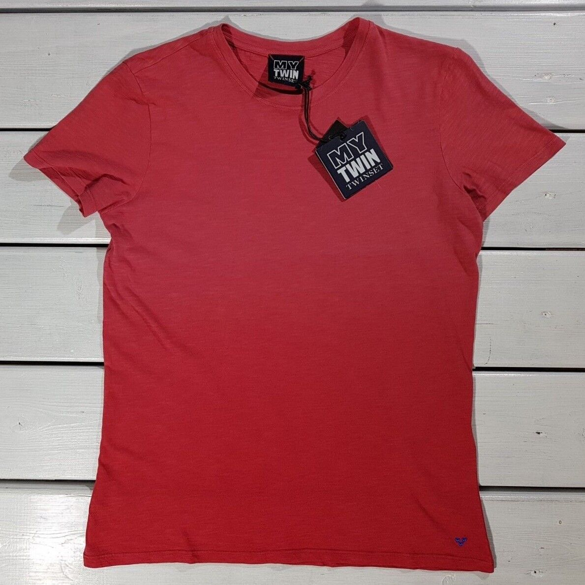 NEW MY TWIN TWINSET MEN'S T-SHIRTS SIZE S RED COTTON SHORT SLEEVE red DI OMBRE