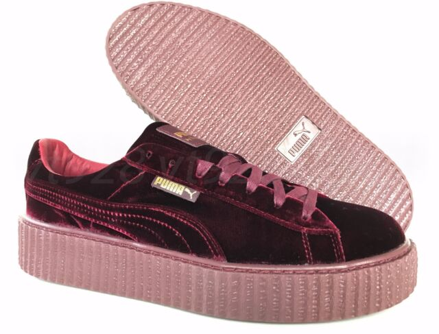 low priced 544b7 f2bd3 NEW PUMA FENTY BY RIHANNA VELVET CREEPERS ROYAL PURPLE MEN'S SHOES ALL SIZES