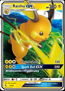 Pokemon Raichu GX 20//68 Hidden Fates