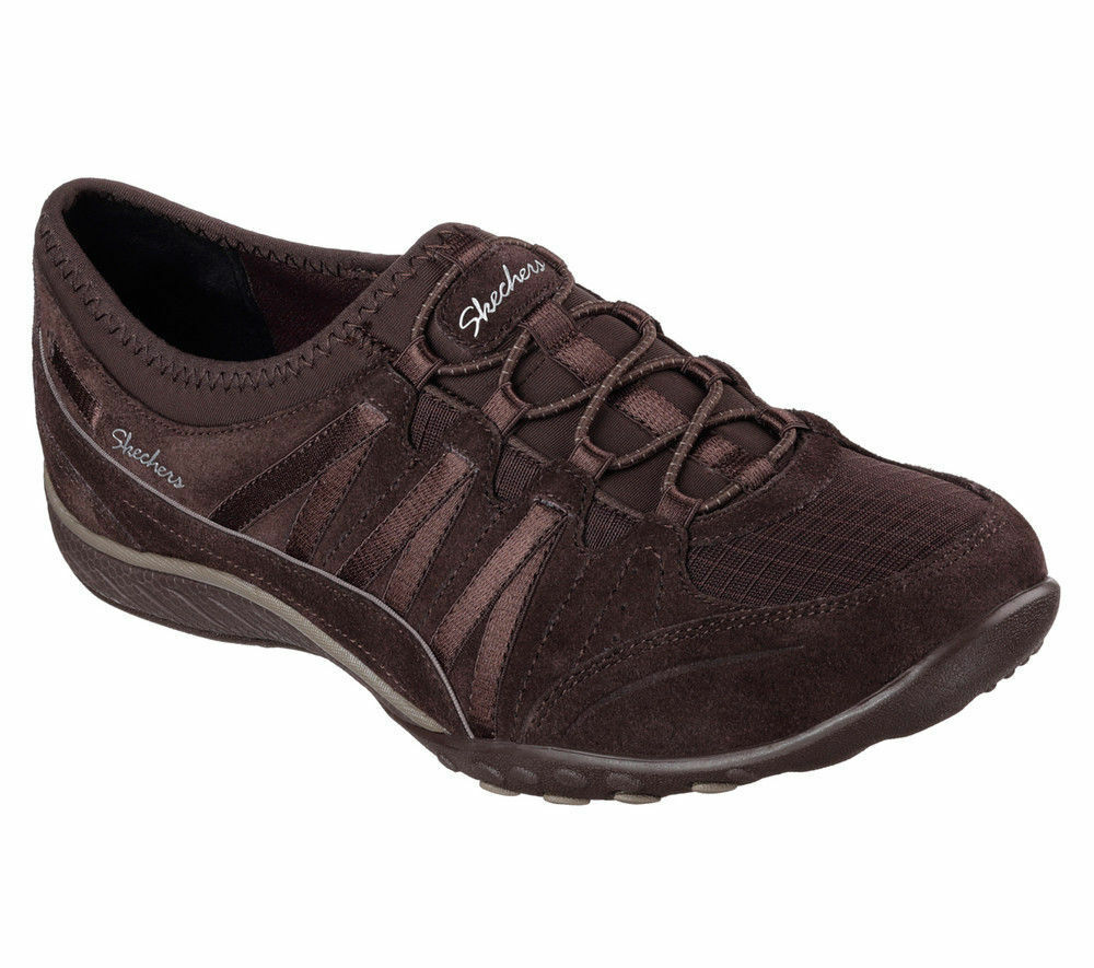 NEW SKECHERS femmes  Sneakers Slipper Memory Foam BREATHE-EASY MONEYBAGS Chocolate