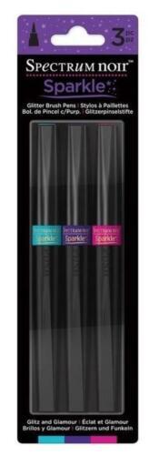 Paillettes Brosse Stylos Par Crafters Companion Spectrum Noir Sparkle Stylos