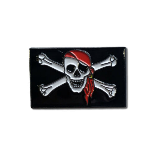 Jolly Roger High Quality Metal /& Enamel Pin Badge with Secure Locking Back