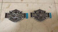Pair Of Harley Davidson Tank Badge Emblem Logo Ford F150 F250