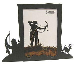 Bow-Hunting-Buck-Deer-Black-Metal-Picture-Frame-3-5-034-x5-034-3-034-x5-034-V-Archery-Hunt