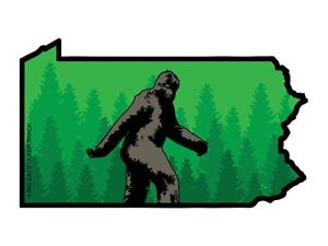 Pennsylvania-State-Shape-with-Bigfoot-Bumper-Sticker