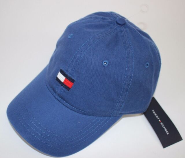 NWT TOMMY HILFIGER One Size Men s Blue Embroidered LOGO Baseball Hat 41bbbbaff183