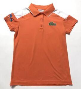 Lacoste Sport Miami Camisa Polo de tenis Abierto Naranja Talla 36 ... 0dbde7ce5e