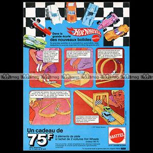 """HOT WHEELS 'Le Circuit' Mattel 1971 - Pub / Publicité / Original Advert Ad #A885 - France - État : Occasion : Objet ayant été utilisé. Consulter la description du vendeur pour avoir plus de détails sur les éventuelles imperfections. Commentaires du vendeur : """"Trés bon état"""" - France"""