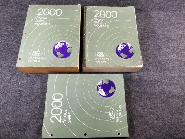 2000 Ford Taurus  Mercury Sable Oem Workshop Manuals Set