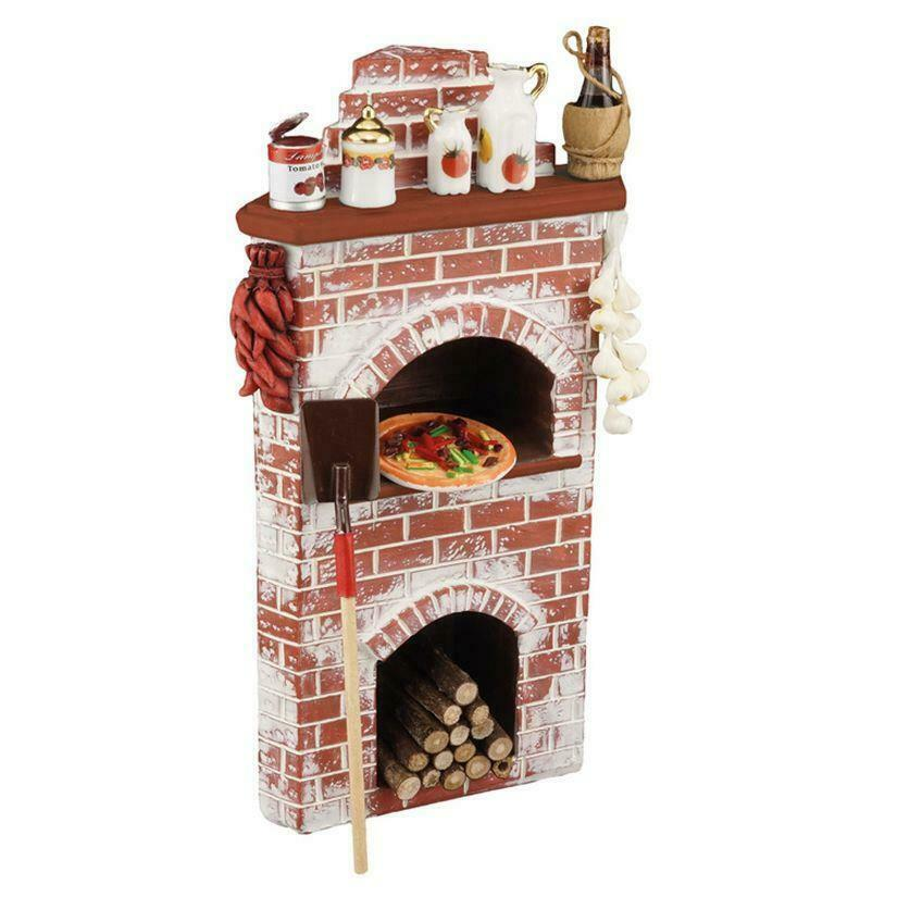 Dollhouse Filled Corner Pizza Oven Display 1.857 2 Reutter Stove Miniature
