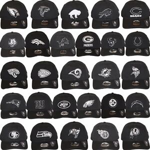 New-Era-NFL-Core-Classic-920-One-Size-Adjustable-Team-Dad-Hat-Cap-Black-White