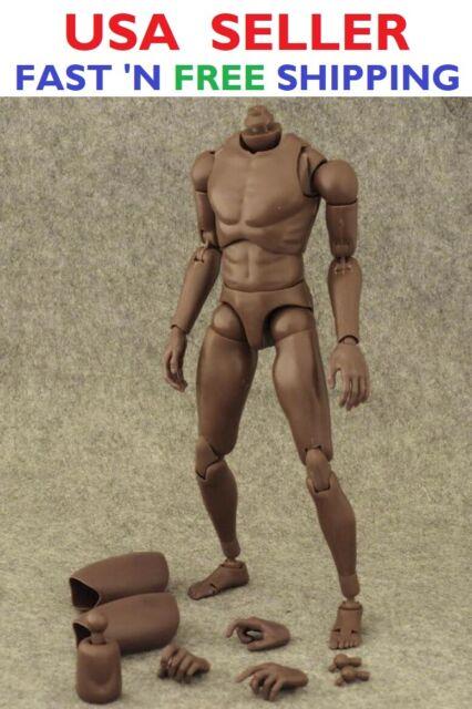 ZY TOYS 1/6 Narrow Shoulder African American Male Body for TTM18 TTM19