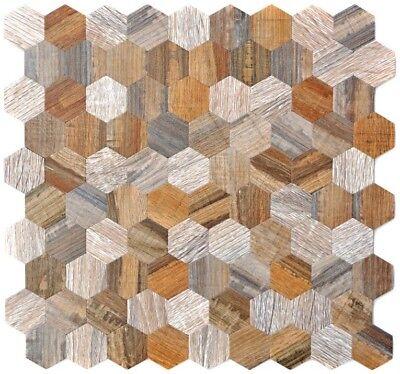 Aluminium Wandverblender auto-adhésif en finition bois foncé Mur Cuisine 200-w2212/_f