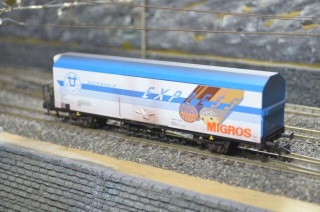 CargoRealistics Roco 46557 Kühlwagen FS Migros, gealtert-patiniert
