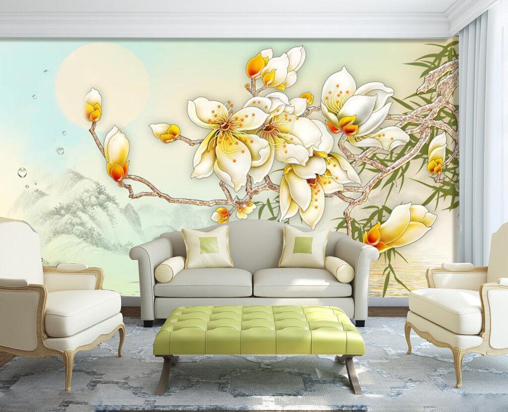 3D Sun Weiß peach 453 Wall Paper Wall Print Decal Wall Deco Indoor Wall Murals