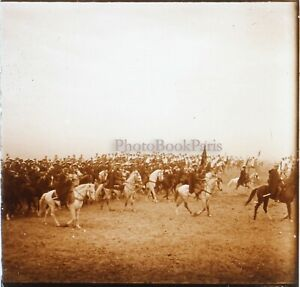 Cavaliers-Arabi-Algeria-Marocco-Foto-Stereo-PL58L29n6-Placca-Lente-Vintage