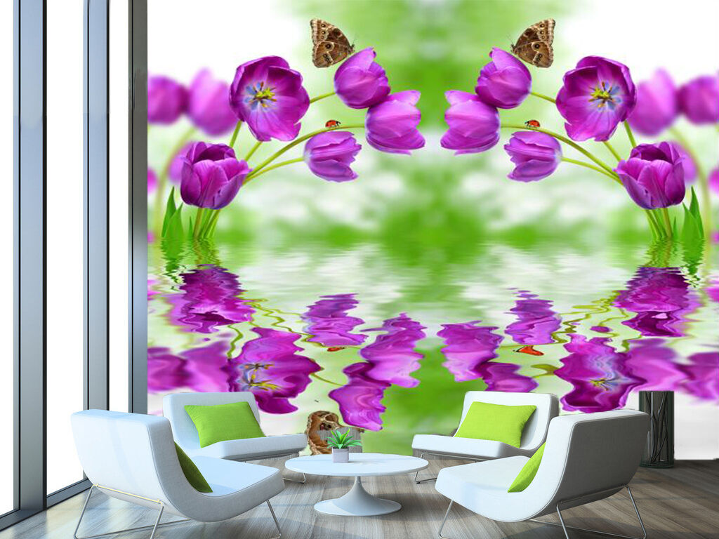 3D Watery Flowers 255 Wall Paper Wall Print Decal Wall Deco Indoor Wall Murals