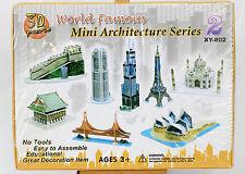 3D Puzzle Kids Authority Mini Set Architecture 8 Buildings Taj Mahal Sealed