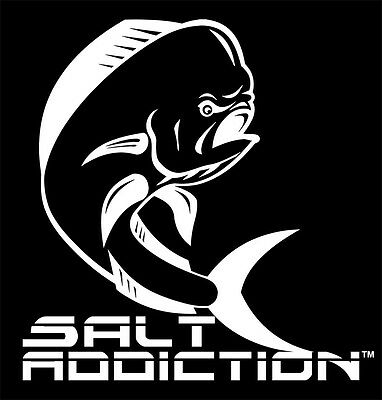 Salt Addiction Crab Decal,saltwater sticker,lobster,life reel,rod,trap,ocean