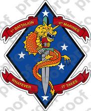 STICKER USMC UNIT   2ND BATTALION 6TH MARINE REGIMENT  ooo  USMC Lisc# 20187