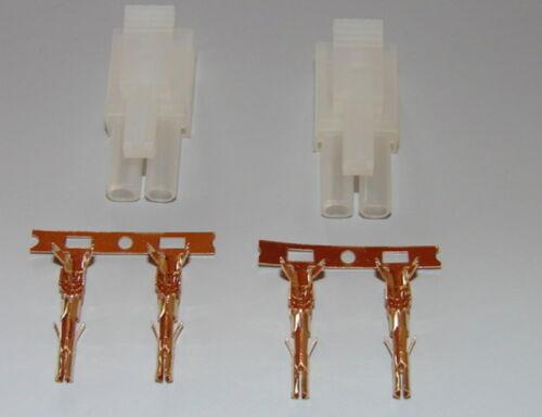 2 pcs Tamiya Connector with Gold contact pins NEW