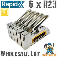 6 x Rapid R23 Professional Ergonomic Hand Tacker / Stapler for WHOLESALE