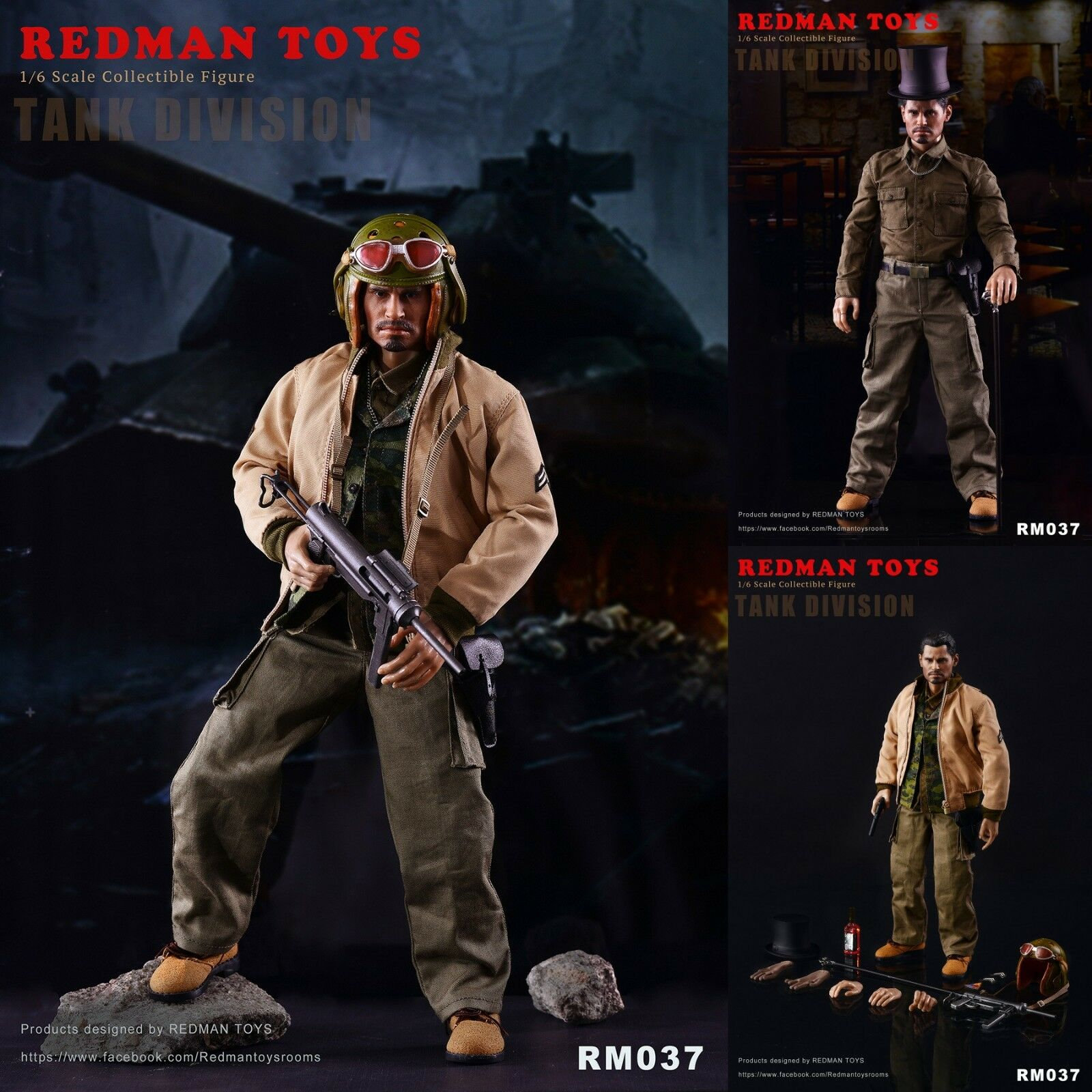 1 6 REDMAN TOYS RM037 Fury Tank Division Collectible Action Figure Model Toys