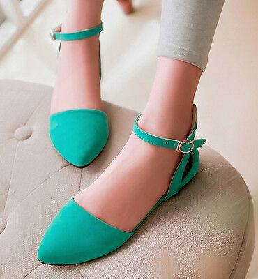 Women's Fashion Ankle Strap Pointy Toe Sandals Flat & Oxford Shoes
