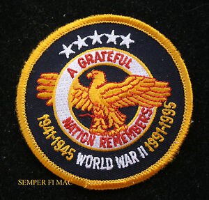 WORLD-WAR-2-A-GRATEFUL-NATION-REMEMBERS-WW2-PATCH-US-ARMY-NAVY-AIR-FORCE-MARINES
