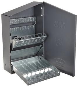 Steel Index Case Drill Jobber Bits Holder Organizer Box Storage Empty Standard