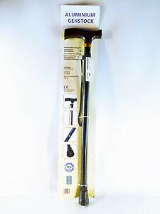 ALUMINIUM-Gehstock-schwarz-10-fach-verstellbar-max-100-kg-neu
