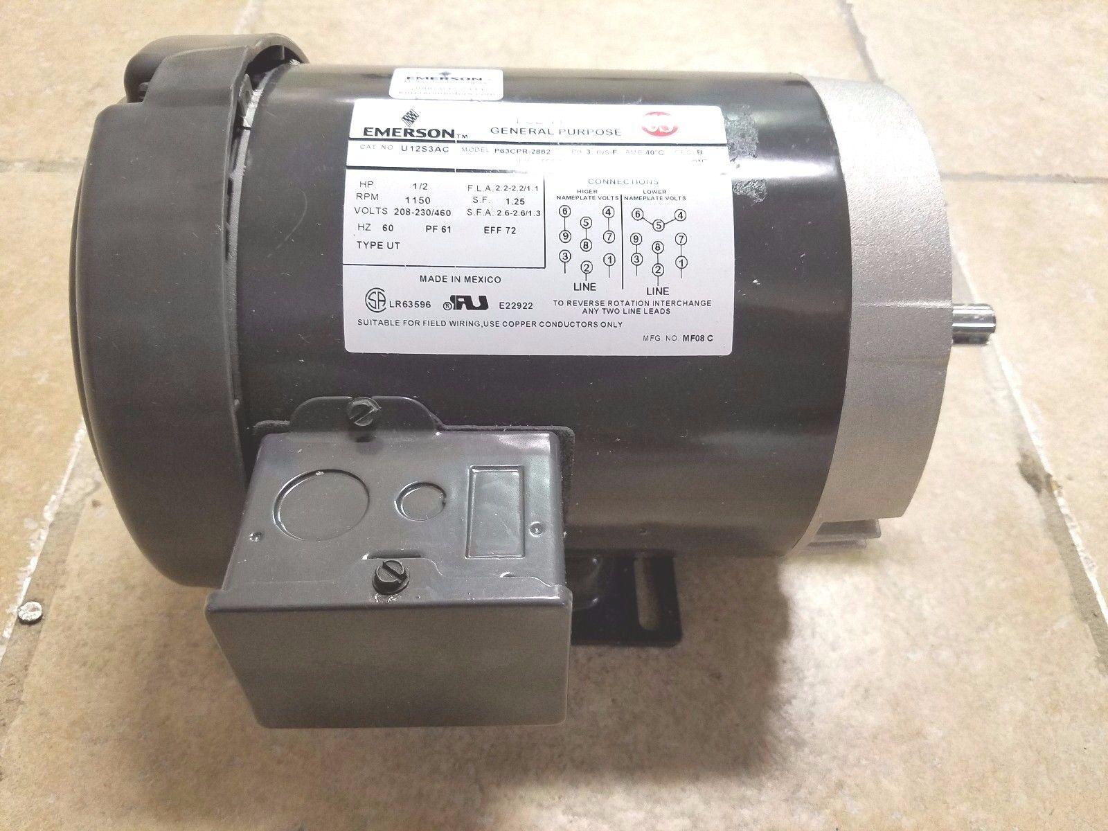 s-l1600  Hp Baldor Single Phase Motor Wiring Diagram on