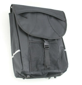XL-Seitentasche-Fahrrad-Gepaecktraeger-Tasche-Deckelklappe-20-l-Schwarz-228-2062