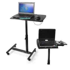 Image Is Loading H35 Laptop Desk Angle Height Adjustable Rolling Notebook