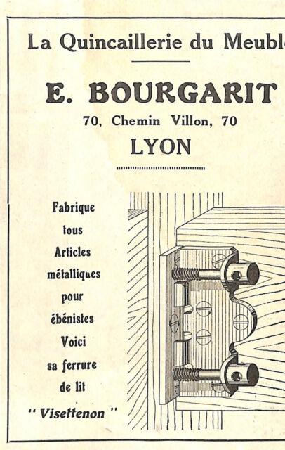 Lyon Publicite Ets Bourgarit Quincaillerie Du Meuble 1930 Ebay