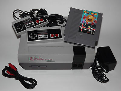 NINTENDO NES SYSTEM CONSOLE LOT W/ACCS,GUARANTEE, NEW 72 PIN CONNECTOR & PAC-MAN