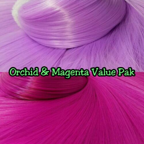 Orchid Purple /& Magenta XL 2 Color Value Pack Nylon Doll Hair Reroot Barbie Pony