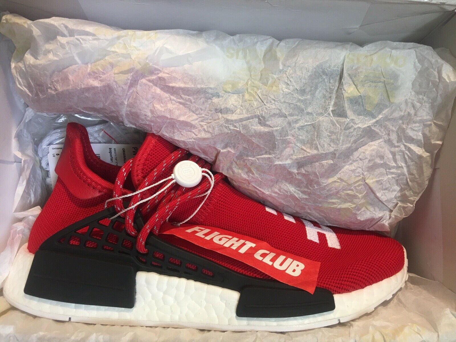 huge selection of bb1c3 58dbc NMD PHARRELL ADIDAS CLUB FLIGHT HUMAN NEW BRAND SCARLET 5 ...