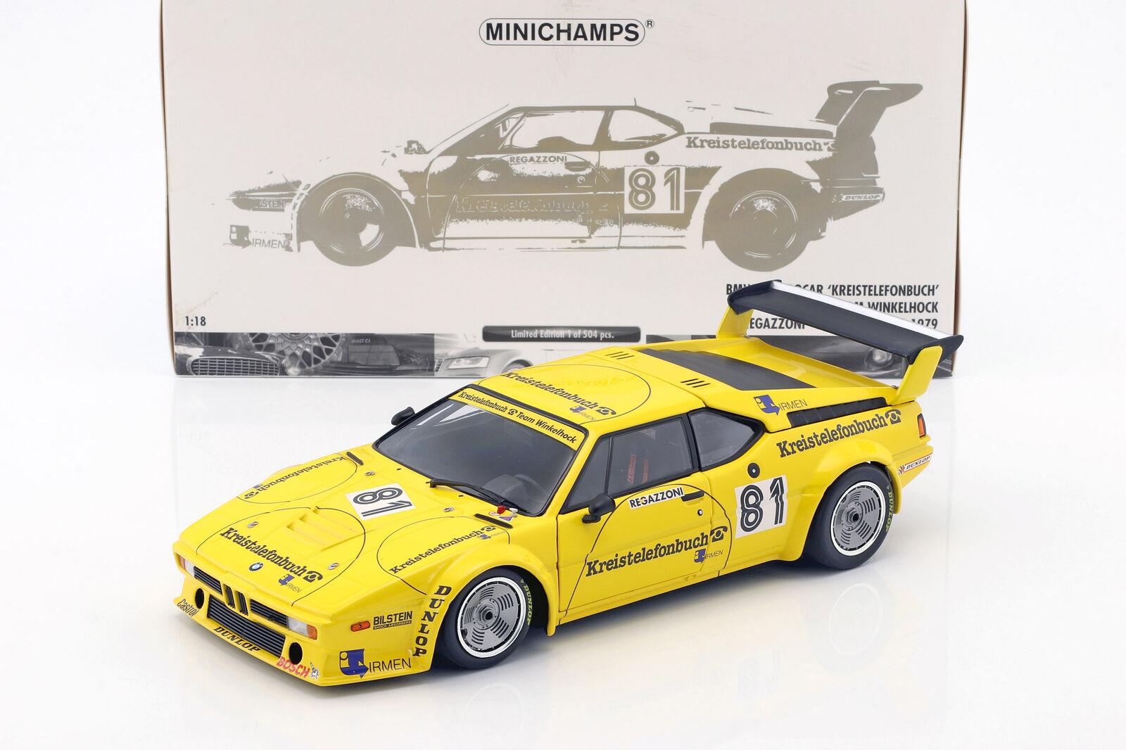 Bmw  m1 PRO voiture e26  81 DRM norrisbague 1979 REGAZZONI 1 18 Minichamps  édition limitée chaude