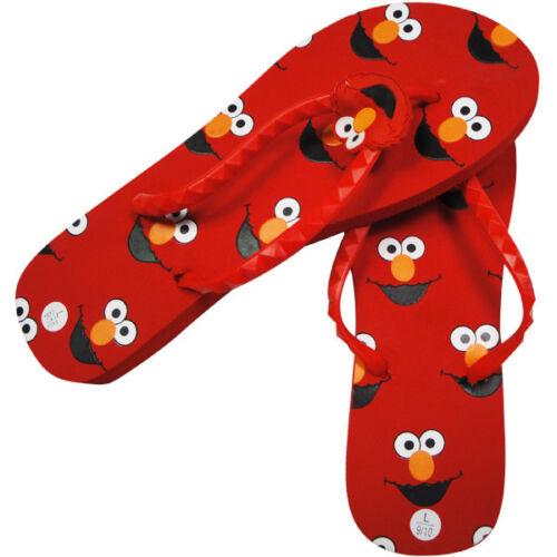 5-6 7-8,or 9-10 NWT Sesame Street Elmo womans flip flops Sizes