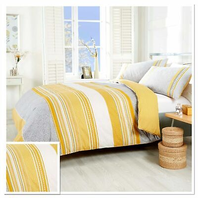 Havana Ochre Yellow Grey Duvet Quilt, Yellow And Gray Paisley Bedding