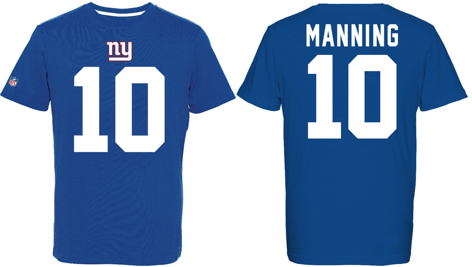 NFL T-Shirt NEW YORK YORK YORK NY GIANTS Eli Manning 10 blau rotburn Trikot Jersey 348c2d