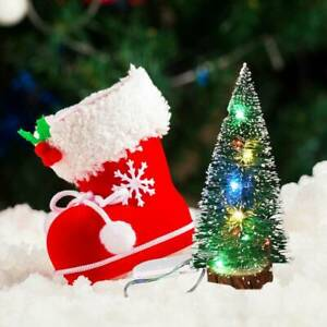 HOT-Christmas-Tree-with-LED-Lights-Ornaments-Desk-Table-Decoration-Xmas-Gifts