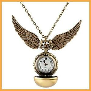 Harry-Potter-Watch-Necklace-Snitch-Pocket-Clock-Pendant-UK-Steampunk-Quidditch