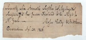 1810 Rhode Island Document Moses Eddy Colby Brothers Ri Freeland rnCY5HPg-09152858-696631358