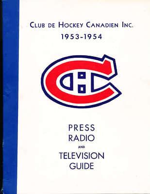 Tv Guide Montreal >> 1953 Montreal Canadien Hockey Press Radio Tv Guide Em Ebay