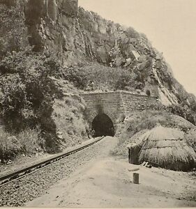 1899-PRINT-COLONIAL-SOUTH-AFRICA-TUNNEL-ON-NETHERLANDS-DELAGOA-BAY-RAILWAY